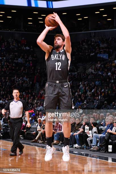 Joe Harris of the Brooklyn Nets shoots the ball against the Atlanta Hawks on December 16 2018 at Barclays Center in Brooklyn New York NOTE TO USER...