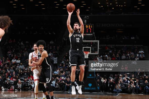 Joe Harris of the Brooklyn Nets shoots the ball against the Chicago Bulls on January 29 2019 at Barclays Center in Brooklyn New York NOTE TO USER...