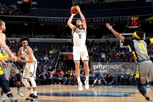 Joe Harris of the Brooklyn Nets shoots the ball against the Memphis Grizzlies on January 4 2019 at FedExForum in Memphis Tennessee NOTE TO USER User...