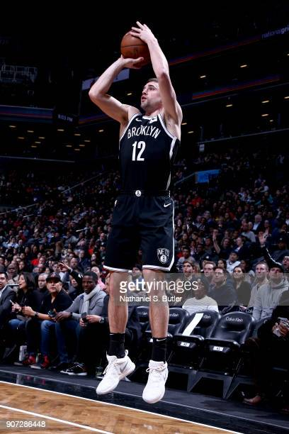 Joe Harris of the Brooklyn Nets shoots the ball against the Miami Heat on January 19 2018 at Barclays Center in Brooklyn New York NOTE TO USER User...