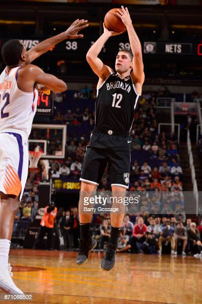 Joe Harris of the Brooklyn Nets shoots the ball against the Phoenix Suns on November 6 2017 at Talking Stick Resort Arena in Phoenix Arizona NOTE TO...