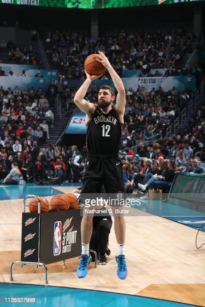Joe Harris of the Brooklyn Nets shoots the ball during the 2019 Mtn Dew 3Point Contest as part of the State Farm AllStar Saturday Night on February...