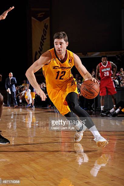 Joe Harris of the Canton Charge drives to the hoop against the Maine Red Claws at the Canton Memorial Civic Center on November 14 2015 in Canton Ohio...