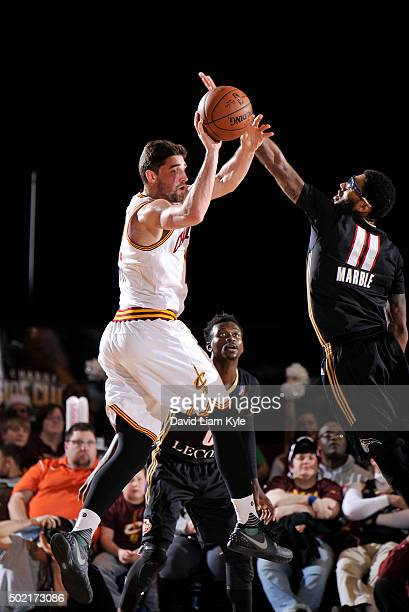 Joe Harris of the Canton Charge looks to pass against Devyn Marble of the Erie BayHawks at the Canton Memorial Civic Center on December 19 2015 in...