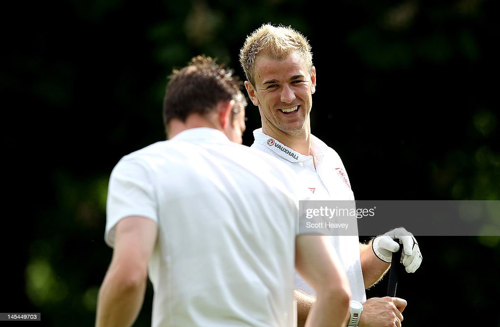 Joe Hart during a Vauxhall Golf Day for the England Football team at The Grove Hotel on May 30, 2012 in Hertford, England.