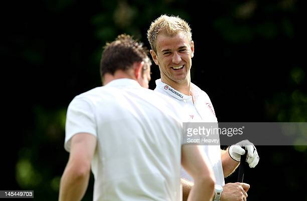 Joe Hart during a Vauxhall Golf Day for the England Football team at The Grove Hotel on May 30 2012 in Hertford England