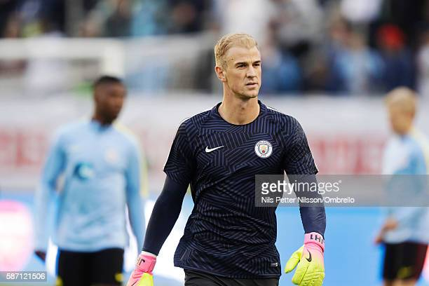 Joe Hart goalkeeper of Manchester City during the PreSeason Friendly between Arsenal and Manchester City at Ullevi on August 7 2016 in Gothenburg...