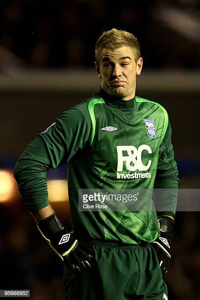 Joe Hart of Birmingham City looks on during the Barclays Premier League match between Birmingham City and Manchester United at St Andrews Stadium on...