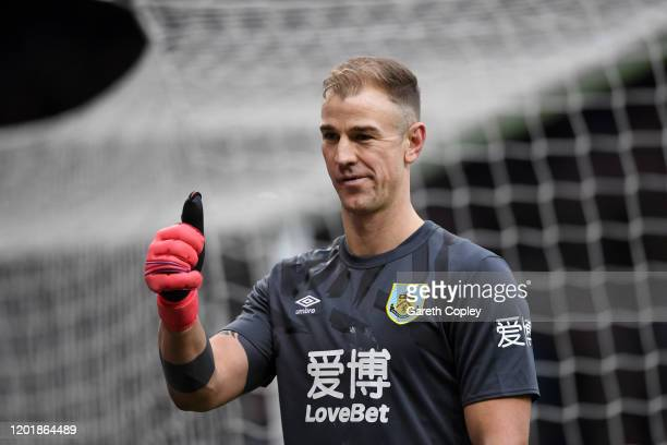 Joe Hart of Burnley FC reacts during the FA Cup Fourth Round match between Burnley FC and Norwich City at Turf Moor on January 25 2020 in Burnley...