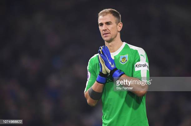 Joe Hart of Burnley looks on during the Premier League match between Burnley FC and Everton FC at Turf Moor on December 26 2018 in Burnley United...