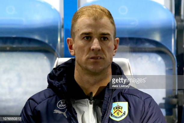 Joe Hart of Burnley on the bench ahead of the Premier League match between Huddersfield Town and Burnley FC at John Smith's Stadium on January 2 2019...