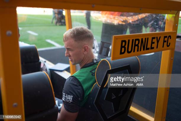 Joe Hart of Burnley on the substitutes bench during the Premier League match between Wolverhampton Wanderers and Burnley FC at Molineux on August 25...