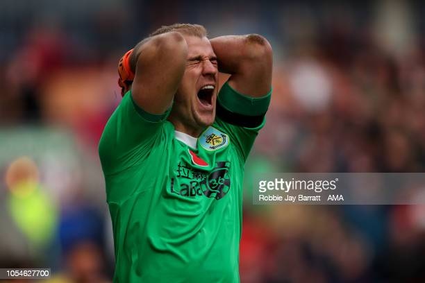 Joe Hart of Burnley reacts during the Premier League match between Burnley FC and Chelsea FC at Turf Moor on October 28 2018 in Burnley United Kingdom