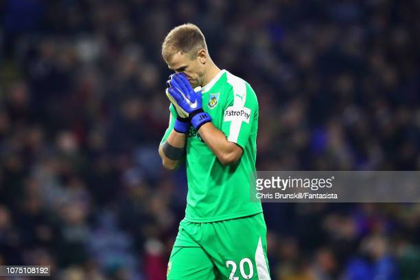 Joe Hart of Burnley reacts during the Premier League match between Burnley FC and Everton FC at Turf Moor on December 26 2018 in Burnley United...