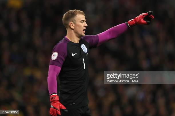 Joe Hart of England in action during the international friendly match between England and Brazil at Wembley Stadium on November 14, 2017 in London,...