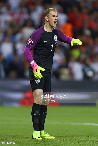 Joe Hart of England in action during the UEFA EURO 2016 Group B match between Slovakia and England at Stade GeoffroyGuichard on June 20 2016 in...