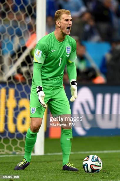 Joe Hart of England in actionduring the 2014 FIFA World Cup Brazil Group D match between Uruguay and England at Arena de Sao Paulo on June 19 2014 in...