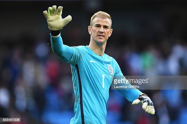 Joe Hart of England looks on during the International Friendly match between England and Turkey at Etihad Stadium on May 22 2016 in Manchester England