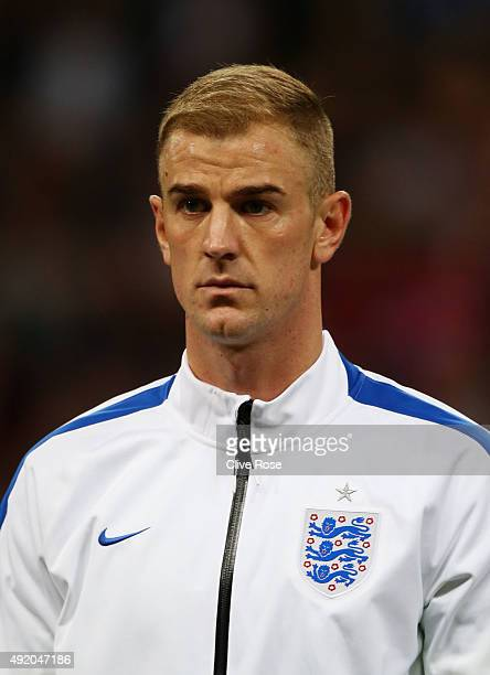 Joe Hart of England looks on prior to the UEFA EURO 2016 Group E qualifying match between England and Estonia at Wembley on October 9 2015 in London...