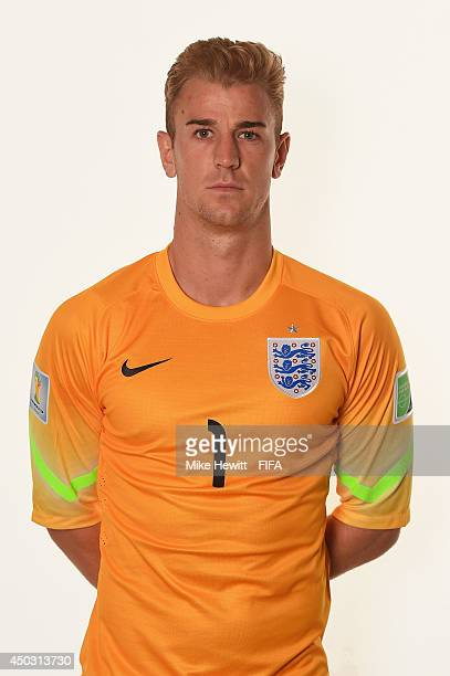 Joe Hart of England poses during the official FIFA World Cup 2014 portrait session on June 8 2014 in Rio de Janeiro Brazil