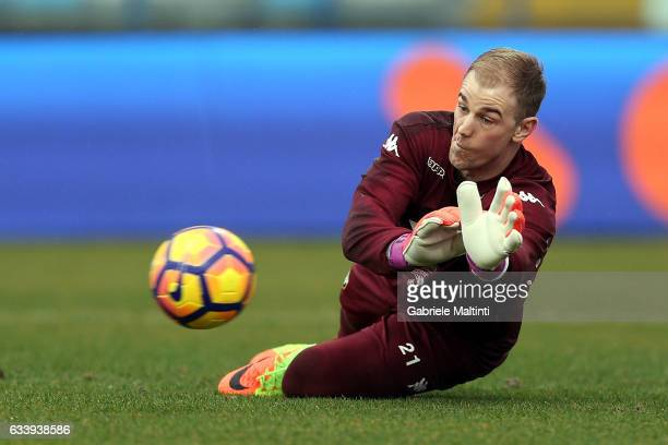 Joe Hart of FC Torino in action during heating prior to the Serie A match between Empoli FC and FC Torino at Stadio Carlo Castellani on February 5...