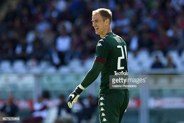 Joe Hart of FC Torino looks on during the Serie A match between FC Torino and Empoli FC at Stadio Olimpico di Torino on September 18 2016 in Turin...