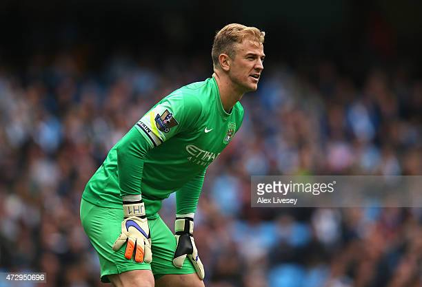 Joe Hart of Manchester City during the Barclays Premier League match between Manchester City and Queens Park Rangers at Etihad Stadium on May 10 2015...