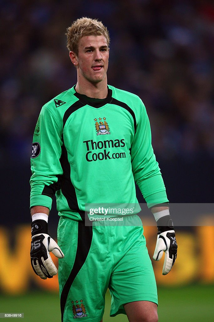 Joe Hart of Manchester City is seen during the UEFA Cup Group A match between FC Schalke 04 and Manchester City at the Veltins Arena on November 27, 2008 in Gelsenkirchen, Germany.