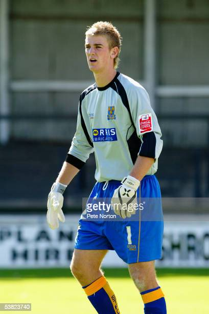Joe Hart of Shrewsbury Town in action during the Coca Cola League Two match between Shrewsbury Town and Northampton Town at Gay Meadow on August 20...