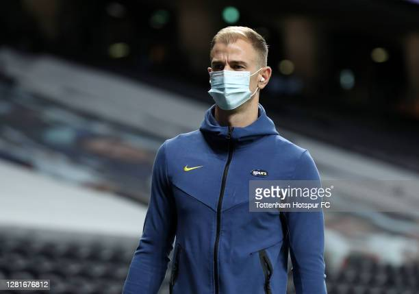Joe Hart of Tottenham Hotspur arrives at the stadium prior to the UEFA Europa League Group J stage match between Tottenham Hotspur and LASK at...