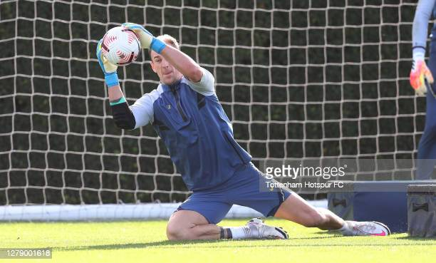 Joe Hart of Tottenham Hotspur during the Tottenham Hotspur training session at Tottenham Hotspur Training Centre on October 07 2020 in Enfield England