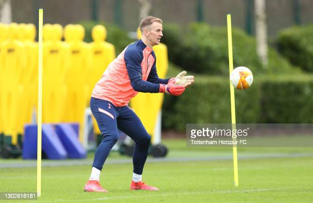Joe Hart of Tottenham Hotspur during the Tottenham Hotspur training session at Tottenham Hotspur Training Centre on February 17, 2021 in Enfield,...