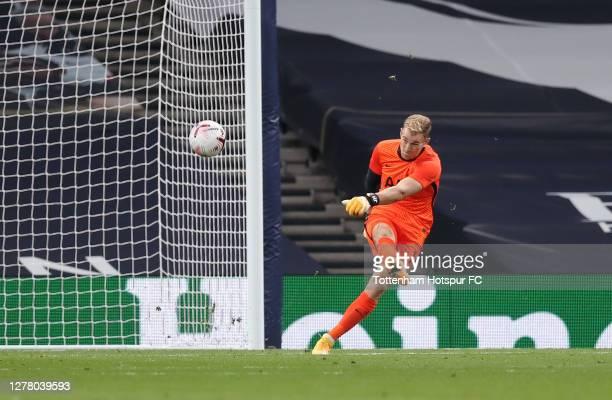 Joe Hart of Tottenham Hotspur during the UEFA Europa League playoff match between Tottenham Hotspur and Maccabi Haifa at Tottenham Hotspur Stadium on...