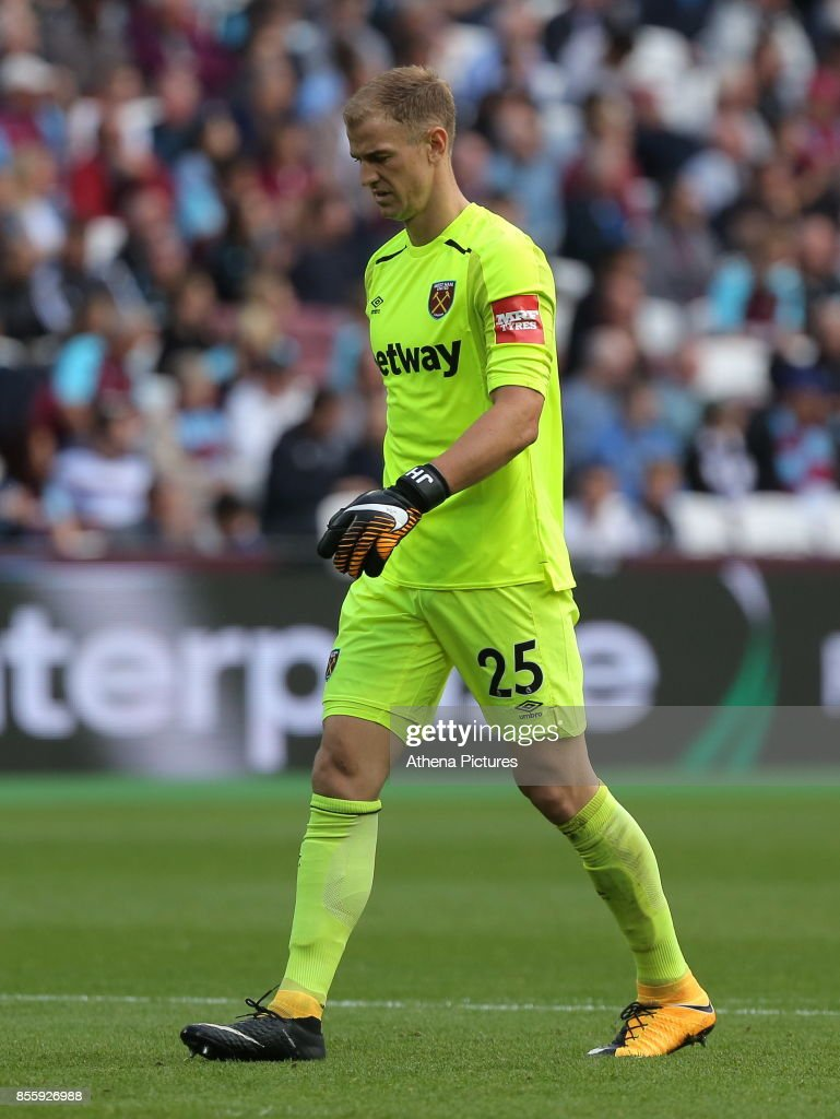 Joe Hart of West Ham in action during the Premier League match between West Ham United v Swansea City at the London Stadium on September 30, 2017 in Swansea, Wales.