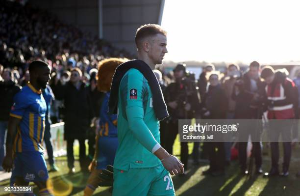 Joe Hart of West Ham United during the Emirates FA Cup Third Round match between Shrewsbury Town and West Ham United at New Meadow on January 7 2018...