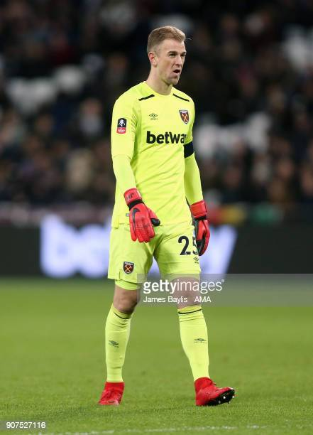 Joe Hart of West Ham United during the Emirates FA Cup Third Round Repaly match between West Ham United and Shrewsbury Town at London Stadium on...