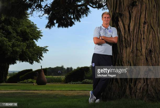 Joe Hart poses during the England press conference at The Grove Hotel on June 1, 2011 in Hertford, England.