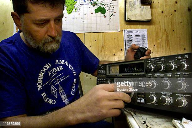 Joe Heck a ham radio operator at his home base Ham radio operators like Heck were used for communications when phone lines were down in New York City...