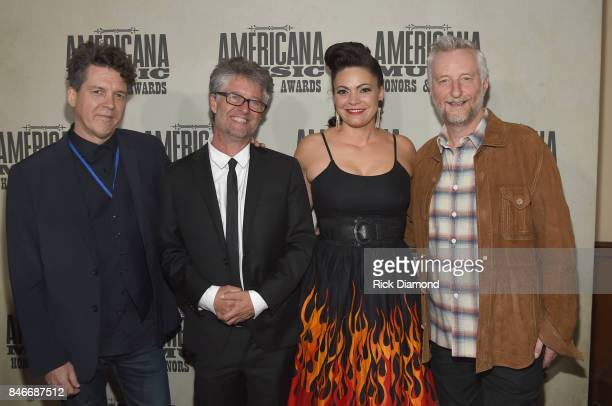 Joe Henry Americana Music Association Executive Director Jed Hilly Angaleena Presley and Billy Bragg attend the 2017 Americana Music Association...
