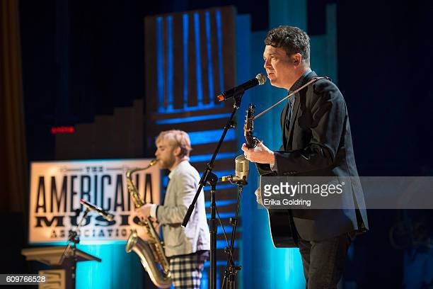 Joe Henry performs at Ryman Auditorium on September 21 2016 in Nashville Tennessee