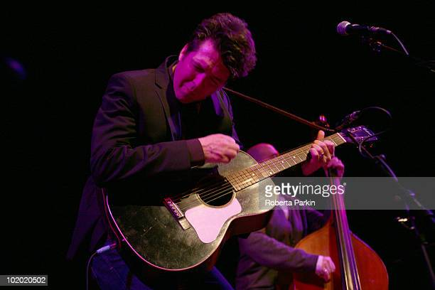 Joe Henry performs on stage as part of Richard Thompson's Meltdown at The Purcell Room South Bank Centre on June 12 2010 in London England