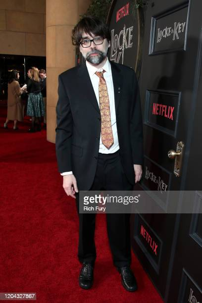 Joe Hill attends Netflix's Locke Key series premiere photo call at the Egyptian Theatre on February 05 2020 in Hollywood California