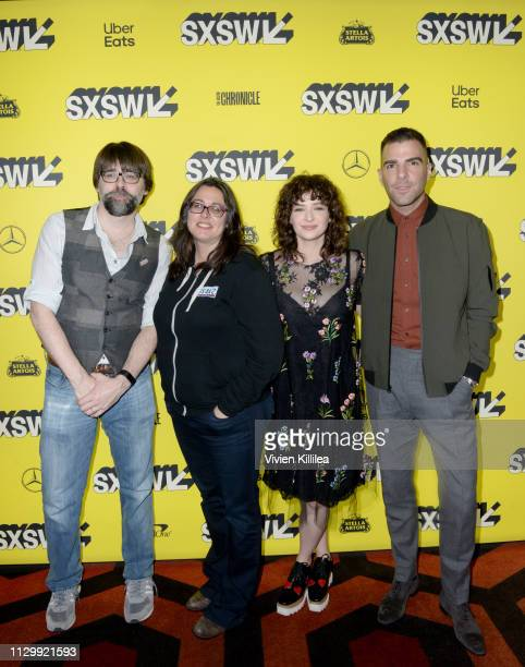 Joe Hill Jami O'Brien Ashleigh Cummings and Zachary Quinto attend SXSW 2019 Nos4a2 Screening and Panel on March 11 2019 in Austin Texas