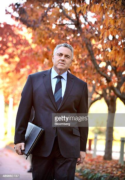 Joe Hockey Australia's treasurer arrives at Parliament House ahead of delivering the Australian federal budget in Canberra Australia on Tuesday May...