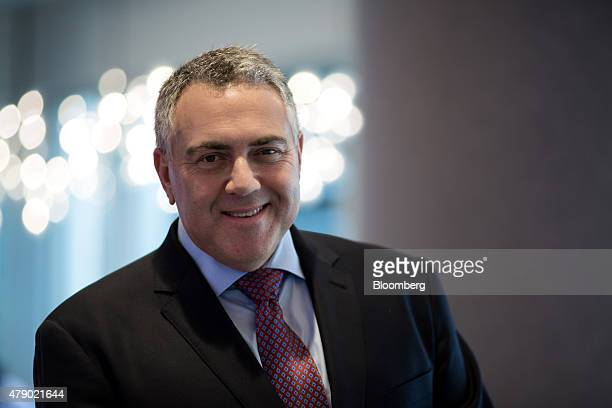 Joe Hockey Australia's treasurer poses for a photograph after a Bloomberg Television interview in Hong Kong China on Tuesday June 30 2015The Asian...