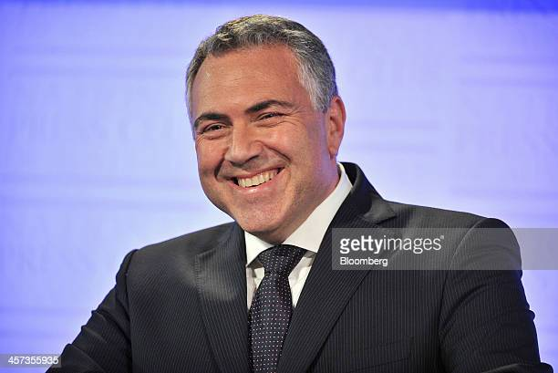 Joe Hockey Australia's treasurer reacts during a presentation of the government's midyear economic and fiscal outlook in Canberra Australia on...