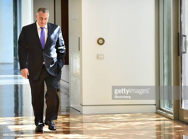Joe Hockey Australia's treasurer walks along a corridor at Parliament House in Canberra Australia on Tuesday Sept 15 2015 Malcolm Turnbull was sworn...
