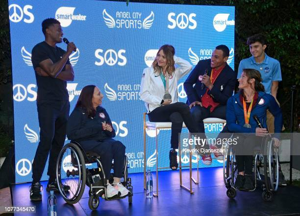 Joe Holder Nike master trainer smartwater Wellness Creative Director and co founder of System of Service moderates a panel with US Paralympians...