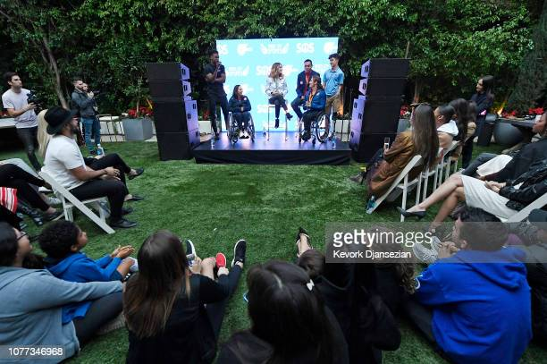 Joe Holder Nike master trainer smartwater Wellness Creative Director and cofounder of System of Service moderates a panel with US Paralympians...