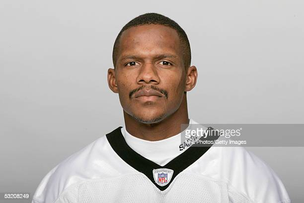 Joe Horn of the New Orleans Saints poses for his 2005 NFL headshot at photo day in New Orleans Louisiana